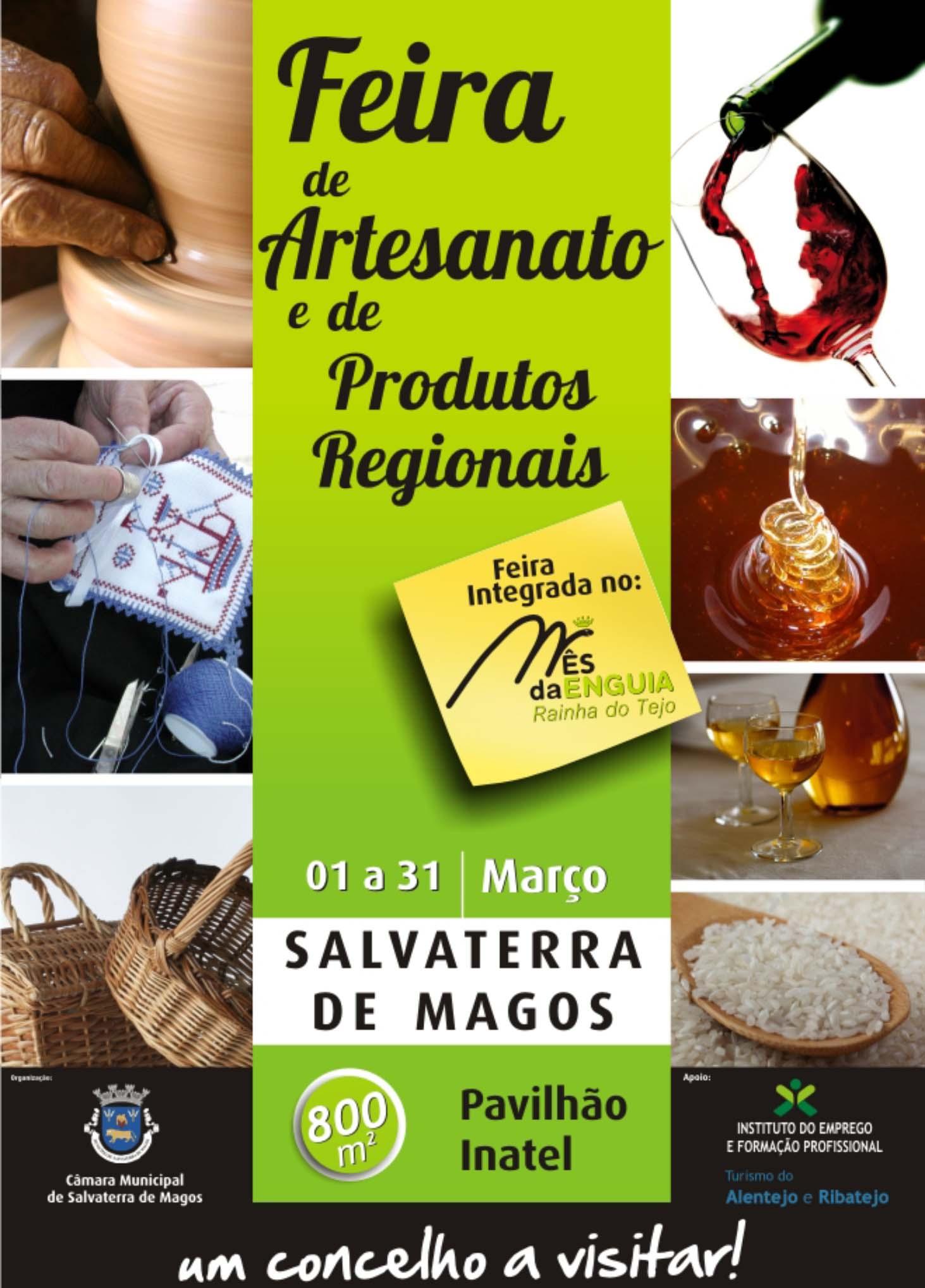Feira de Artesanato e Produtos Regionais em Salvaterra de Magos